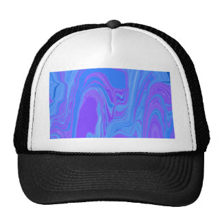 Rhythm of Color Abstract Art in Purple and Blue Trucker Hat