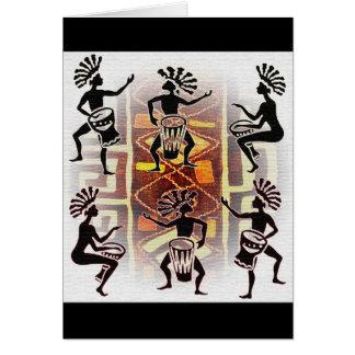 Rhythm of the Drums Card
