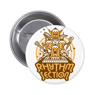 Rhythm-Section Pinback Button