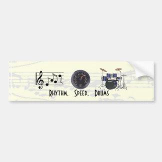 Rhythm, Speed, Drums Bumper Sticker