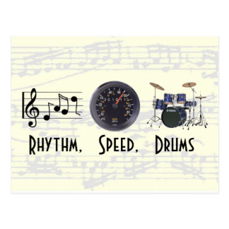 Rhythm, Speed, Drums Post Card