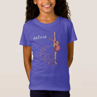 Rhythmic Gmnast With Ribbon Girls Tee