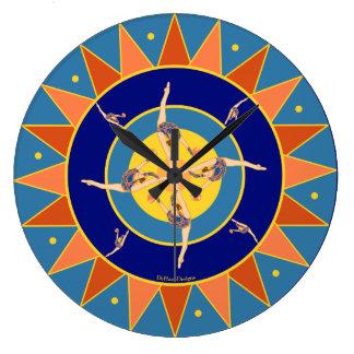 Rhythmic Gymnast Dancing With Ball Wall Clock