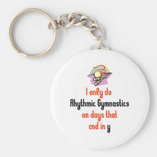 Rhythmic Gymnastic Days Basic Round Button Keychain