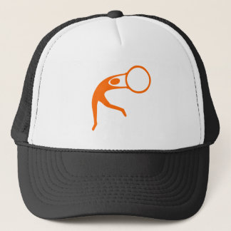Rhythmic Gymnastic Figure - Orange Trucker Hat