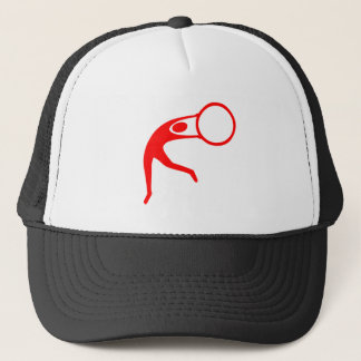 Rhythmic Gymnastic Figure - Red Trucker Hat