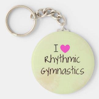 Rhythmic Gymnastics gifts and accessories Basic Round Button Keychain