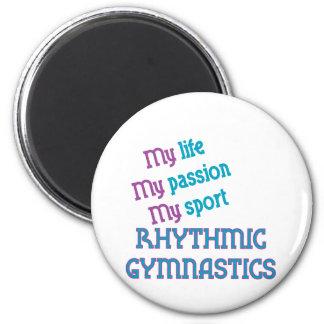 Rhythmic Gymnastics Life, Passion, Sport 2 Inch Round Magnet