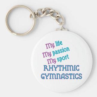 Rhythmic Gymnastics Life, Passion, Sport Basic Round Button Keychain