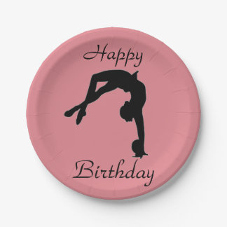 Rhythmic Gymnastics paper plates party supplies