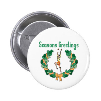 Rhythmic Gymnastics Seasons Greetings Button
