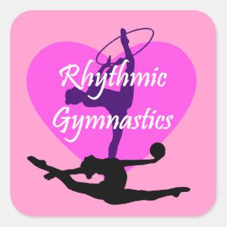 Rhythmic Gymnastics Square Sticker