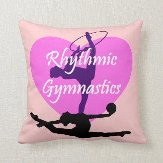 Rhythmic Gymnastics Throw Pillow
