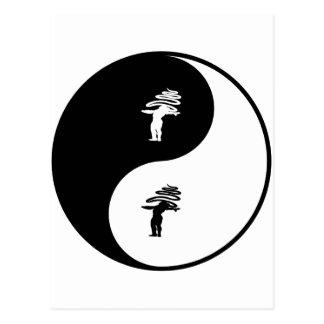 Rhythmic Gymnastics Yin Yang Postcard