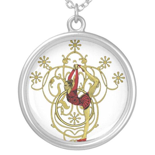 rhythmic gymnatics silver plated necklace
