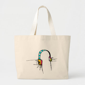 Rhythmic Riots Large Tote Bag