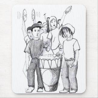Rhythms Drum Dancing People Mouse Pad