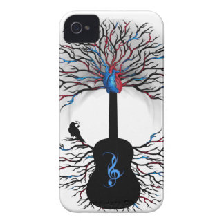 Rhythms of the Heart - ( surreal guitar art ) iPhone 4 Case-Mate Cases