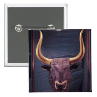 Rhyton in the shape of a bull's head, pinback button