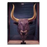 Rhyton in the shape of a bull's head, postcard