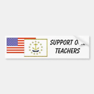 RI--Apoye a nuestros profesores Pegatina Para Auto