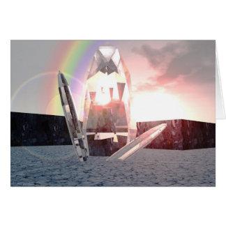 Ri Crystal of Lemuria Greeting Cards