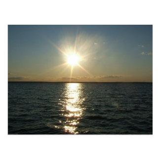 RI ocean sunset postcard