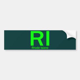 RI Rhode Island plain green Bumper Sticker
