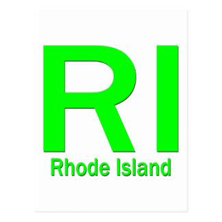 RI Rhode Island plain green Postcard