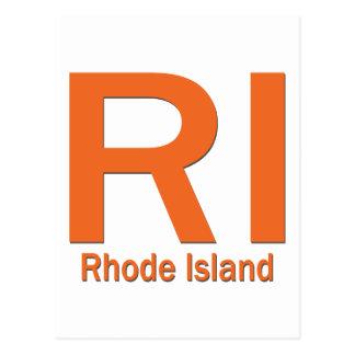 RI Rhode Island plain orange Postcard