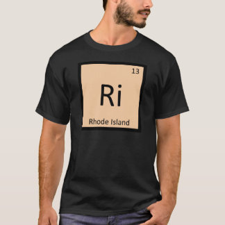 Ri - Rhode Island State Chemistry Periodic Table T-Shirt