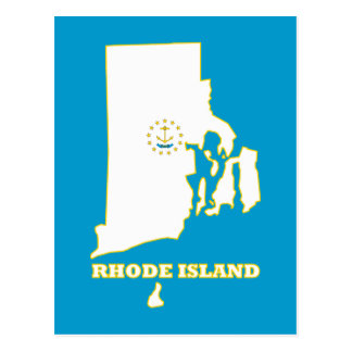 RI State Flag Postcard