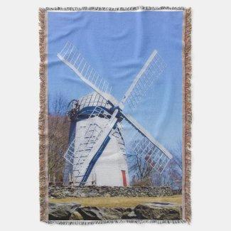 RI windmill Throw Blanket