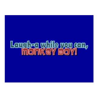 Ría mientras que usted puede Monkey diseño del muc Postales