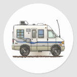 Rialta Winnebago Camper RV Classic Round Sticker