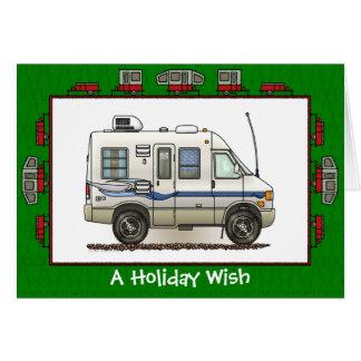 Rialta Winnebago Camper RV Holiday Wish Greeting Card