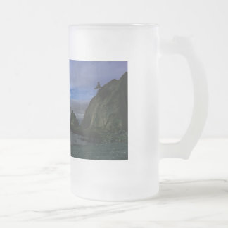 Rialto Beach Olympic National Park Frosted Glass Beer Mug