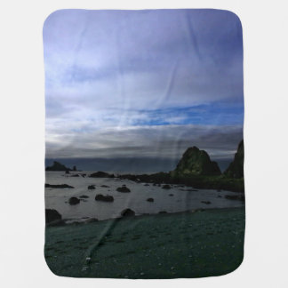 Rialto Beach Olympic National Park Swaddle Blanket
