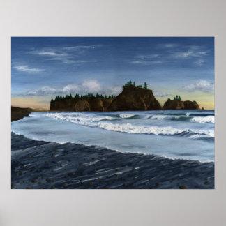 Rialto Beach Seastacks Poster