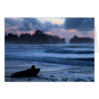 Rialto Beach Sunset Card