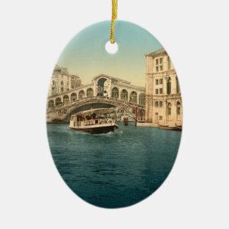 Rialto Bridge and Grand Canal, Venice Ceramic Ornament