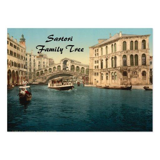 Rialto Bridge and Grand Canal, Venice, Italy Business Card Templates
