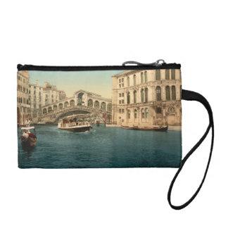 Rialto Bridge and Grand Canal, Venice, Italy Change Purse