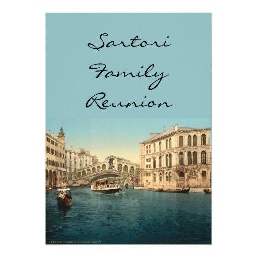 Rialto Bridge and Grand Canal, Venice, Italy Invite