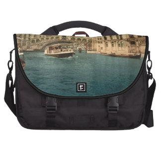 Rialto Bridge and Grand Canal Venice Italy Laptop Messenger Bag