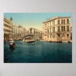 Rialto Bridge and Grand Canal, Venice, Italy Print