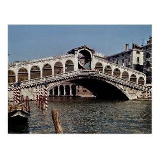 Rialto Bridge, begun 1588 Postcard