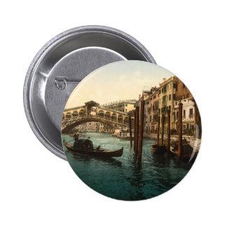 Rialto Bridge I, Venice, Italy 2 Inch Round Button
