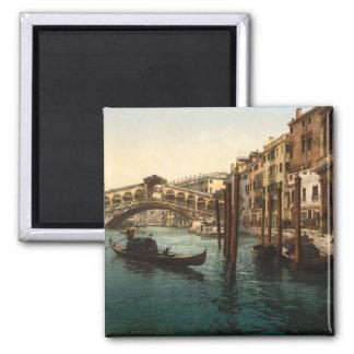 Rialto Bridge I, Venice, Italy 2 Inch Square Magnet