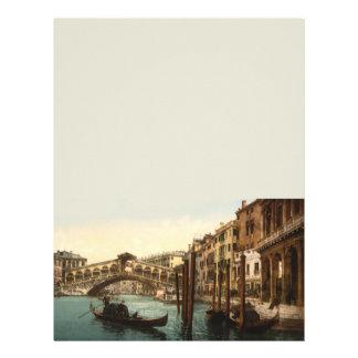 Rialto Bridge I, Venice, Italy 8.5x11 Stationery